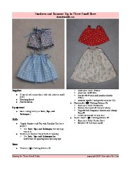 Little Girl's Sundress - Free Knitting pattern For a Little Girl's