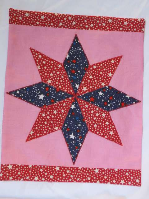 Free Star Flower Quilt Patterns : Sherralyn s Dolls A Star Quilt Block