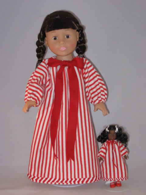Sherralyn\'s Dolls » Nightgowns for my Christmas Dolls