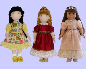 Dolls wearing Ballgown and Classic Dress